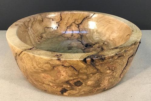 Red Oak Burl bowl, medium, by artist Chris Grayson