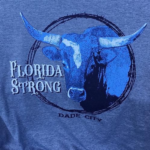 Florida Strong Tshirt, Dade City (heather blue)