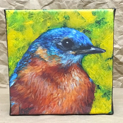 Bluebird giclee print on canvas by artist Lee Taylor