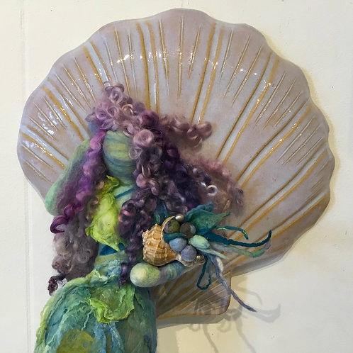 "Mixed media sculpture ""Sea Nymph"" by artist Lynda Rix"