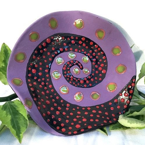Ceramic dish by artist Sandy Mann