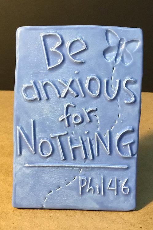 Ceramic Bible verse art by artist Lee Taylor