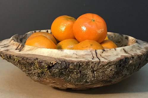 Live edge Red Oak Burl bowl by artist Chris Grayson