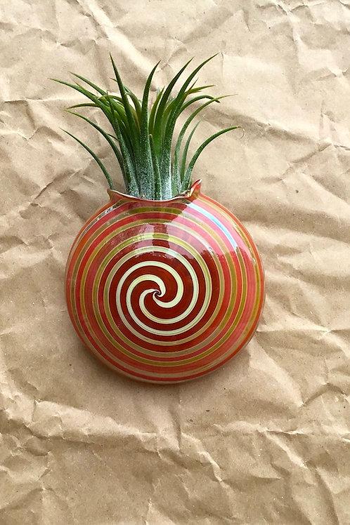 Handblown glass wall vase by artist Jason Probstein