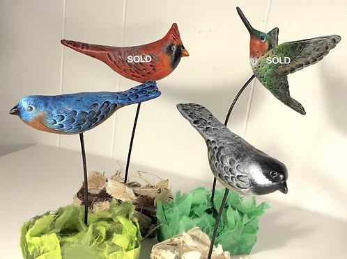 Bird sculptures by artist Lee Taylor