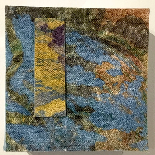 4x4 Clay monoprint on canvas by artist Deborah Gillars