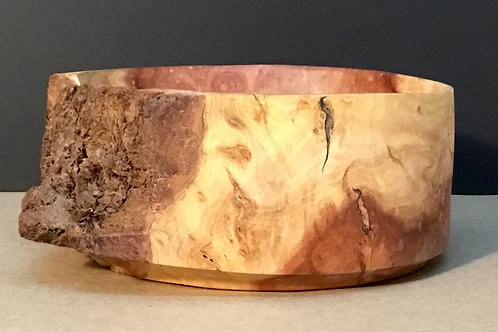 Redwood bowl, small, with live edge by artist Chris Grayson