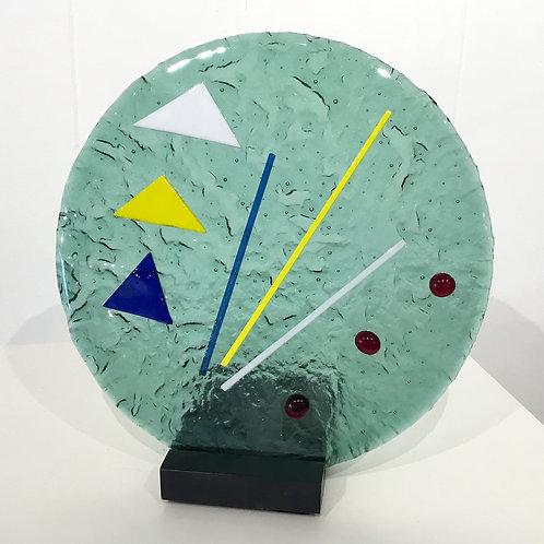 Modern glass sculpture by artist Lloyd Johnson