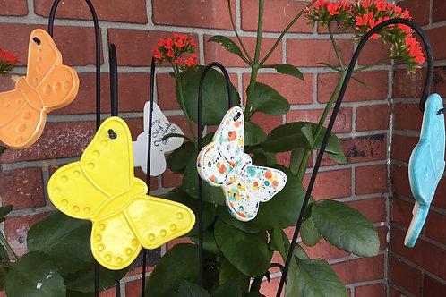 Butterfly ceramic art by artist Lee Taylor
