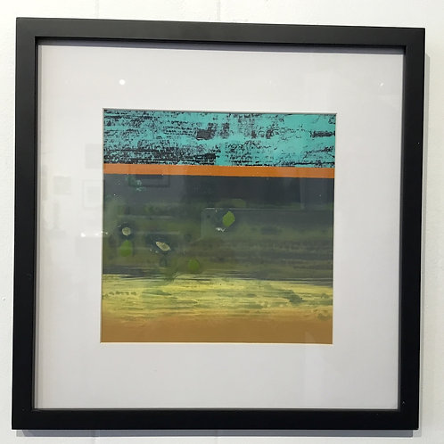 12x12 framed abstract acrylic by artist Sean Parrish