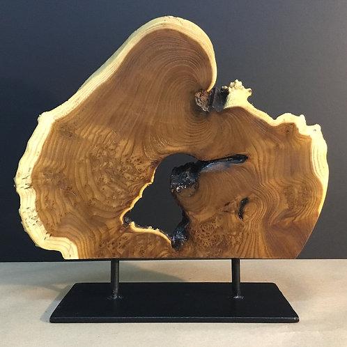 "Russia Olive Wood ""Hummingbird"" sculpture by artist Chris Grayson"