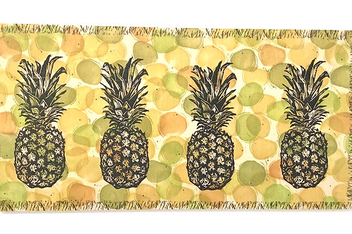 12x24 Pineapples block print by artist Coralette Damme