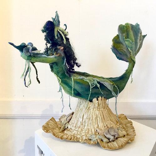 "Mixed media sculpture ""Underwater Treasures"" by artist Lynda Rix"