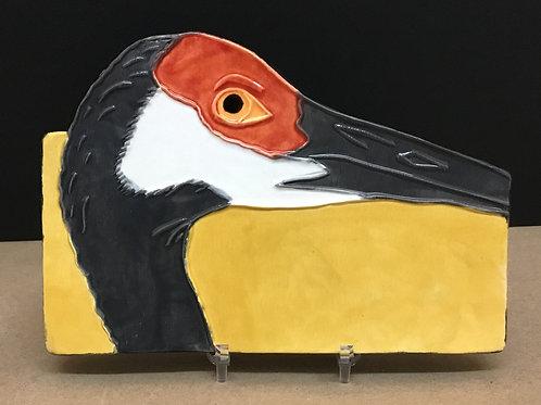 Sandhill Crane ceramic art by artist Lee Taylor