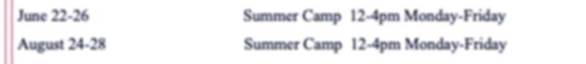 2020 June & August Summer Camp Dates_edi