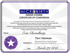 Microbirth certificate