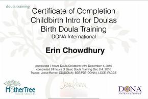 Dona certificate