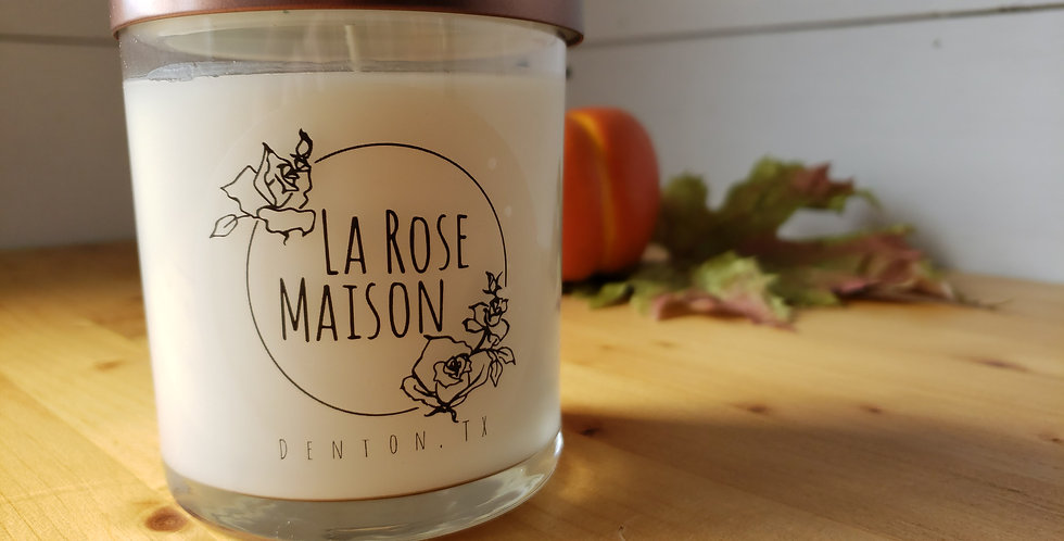 Amber Leaves Tumbler Soy Candle 8.5oz