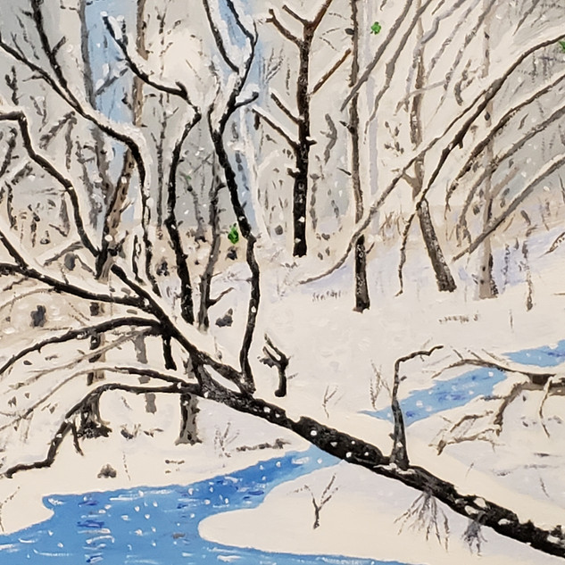 Winter Stream - Oil on Canvas - $595.jpg