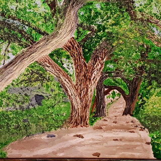 Wooded Trail - Oil on Canvas - $595.jpg