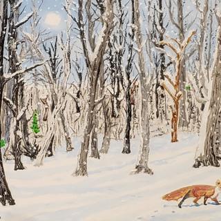 Winter Fox - Oil on Canvas - $595.jpg