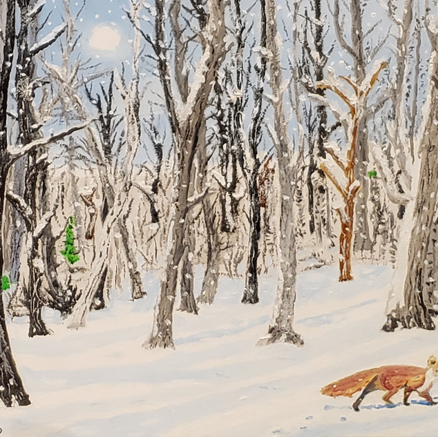 Winter Fox - Oil on Canvas - $595.jpg