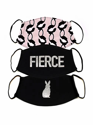 FIERCE 3 PACK FACE COVERINGS