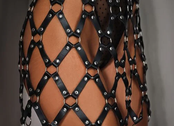 CAGED HARNESS SKIRT