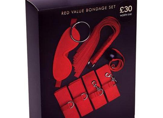 RED WEBBING BONDAGE SET