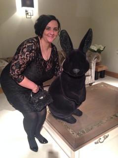 Kelly with JG bunny