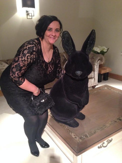 Kelly with JG bunny