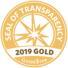 We have achieved the                  Guide Star Gold Seal of Transparency