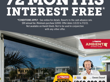 72 months interest-free and no deposit*!