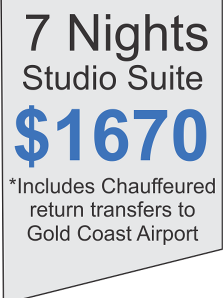 7 Nights Accommodation at Meriton Broadbeach Plus Limousine Airport Transfers