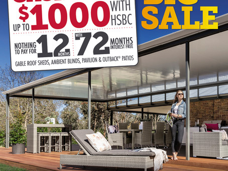 Get up to $1000 CASHBACK on STRATCO patios