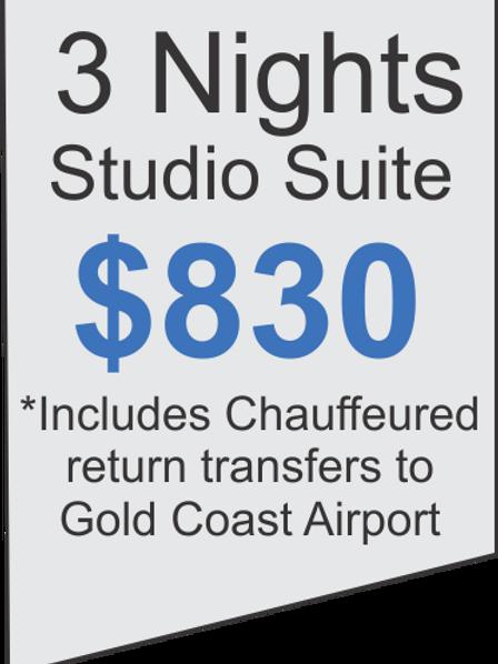 3 Nights Accommodation at Meriton Broadbeach Plus Limousine Airport Transfers