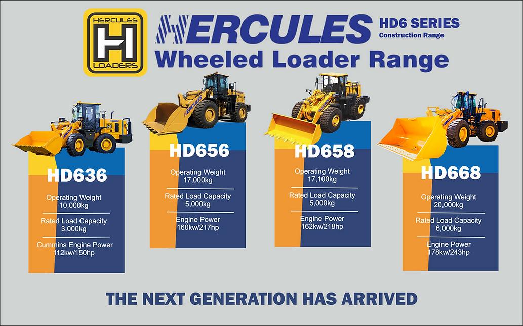Heavy duty wheel loader range herucles w
