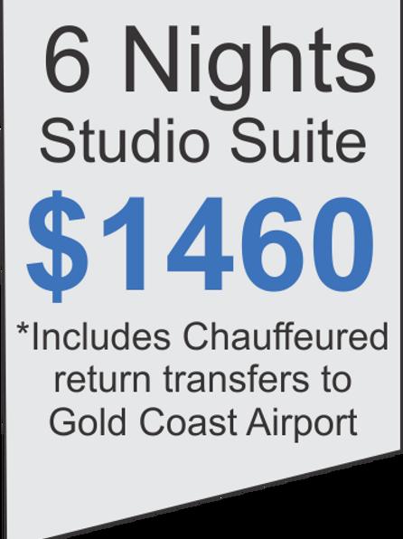 6 Nights Accommodation at Meriton Broadbeach Plus Limousine Airport Transfers