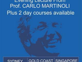 Carlo Martinoli coming to Sydney, Gold Coast and Singapore