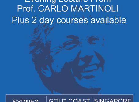 Carlo Martinoli coming to Sydney, Gold Coast and Singapore