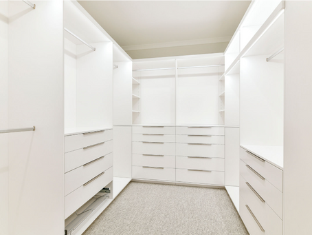 A walk-in wardrobe to solve all your problems.