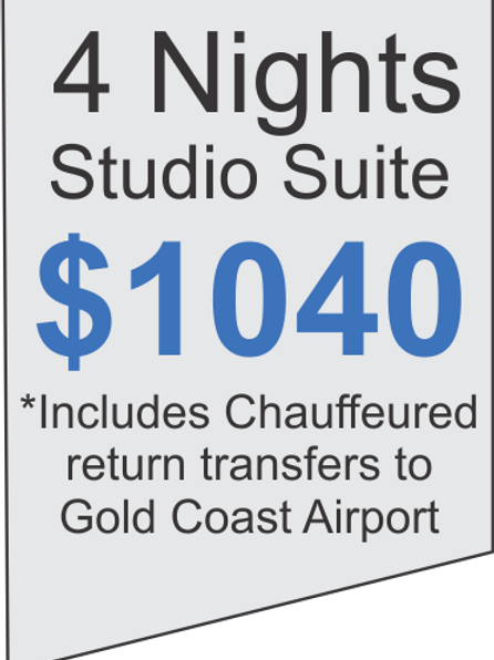 4 Nights Accommodation at Meriton Broadbeach Plus Limousine Airport Transfers