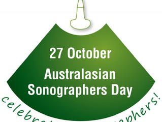 Don't forget this Saturday is 'Australasian Sonographers Day'.