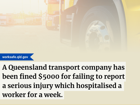 Transport Company Fined $5,000