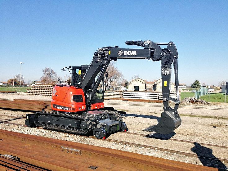 ECM ES95UR Hy-Rail Excavator