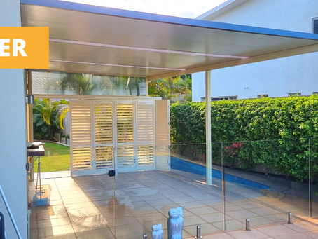 Redland Bay Before & After - Stratco Patios!