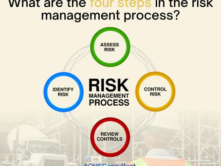 Do you know the four steps to manage risks?