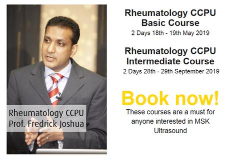 Prof. Fredrick Joshua announce 2 Ultrasound Rheumatology Courses.