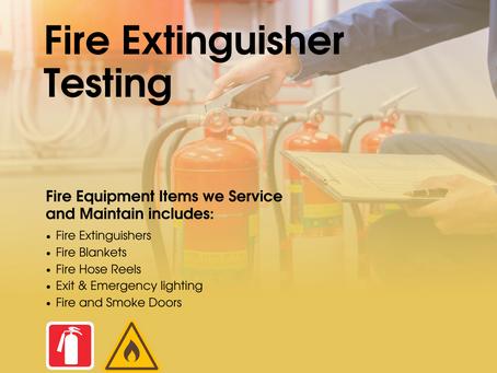 Fire Equipment Servicing.