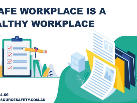 A safe workplace is a healthy workplace. 👥